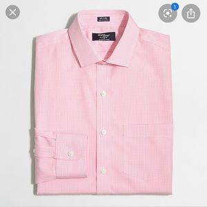 J. .Crew Pink 80's 2 Ply Checked Button Down Shirt